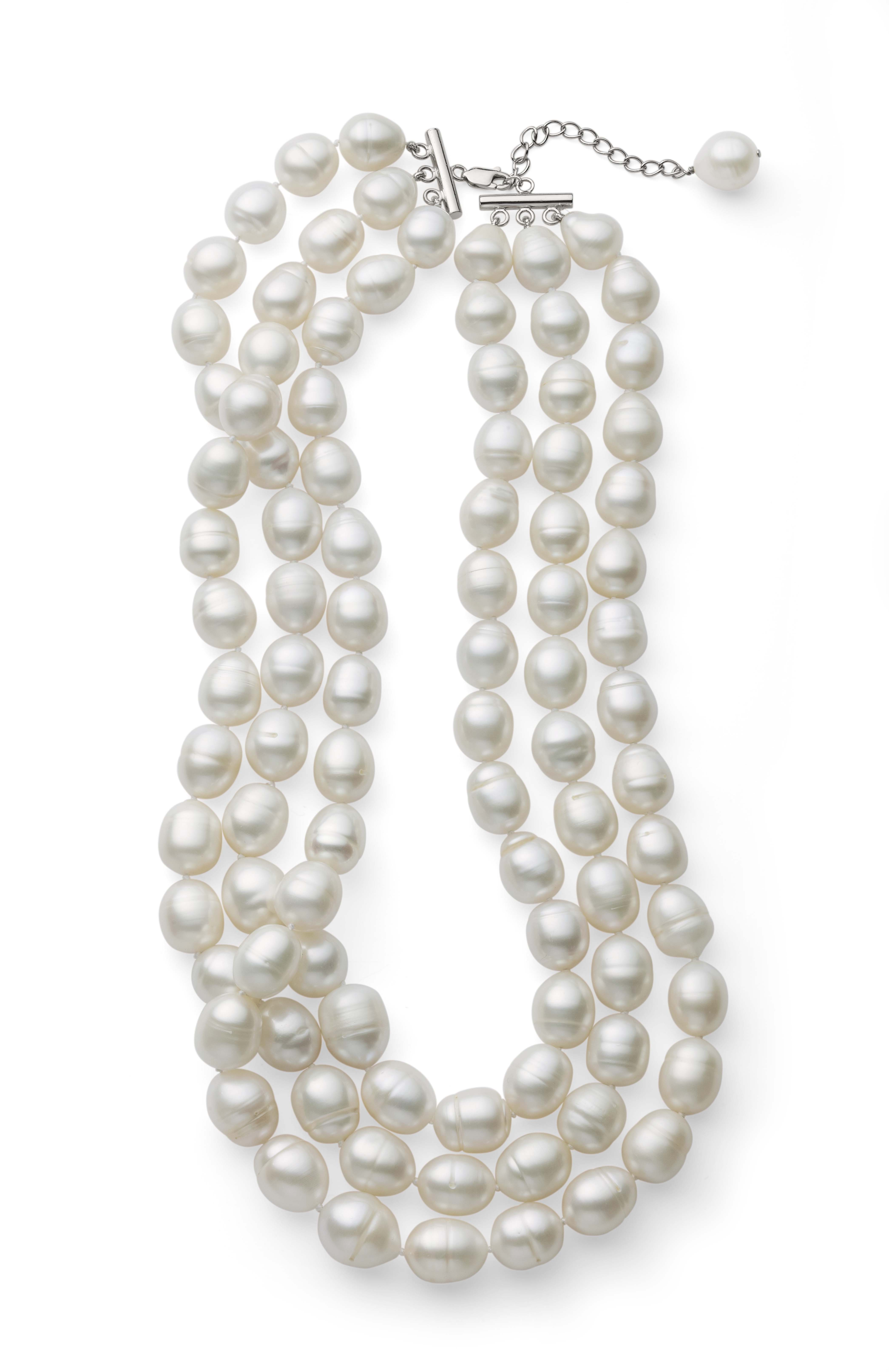 Freshwater Triple Strand Pearl Necklace