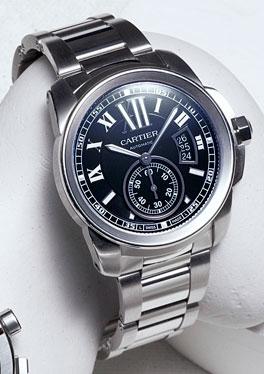 esquire magazine s big black book of the best spring 2012 steel calibre de cartier watch