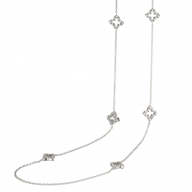 18k White Gold and Diamond 36 inch Necklace