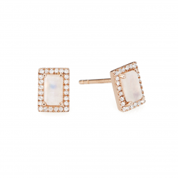 Facet Collection Moonstone Earrings