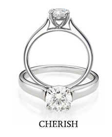 The Cherish bridal ring collection