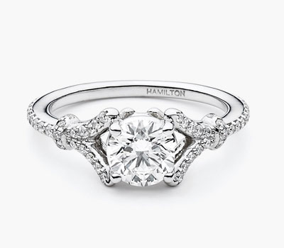 Embrace collection diamond rings
