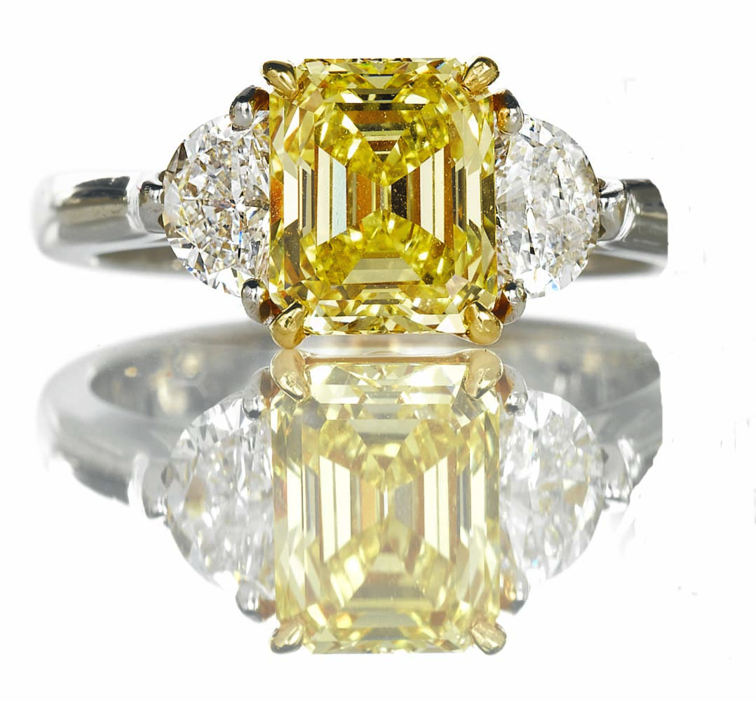 Fancy Intense Yellow Diamond Ring Hamilton Jewelers