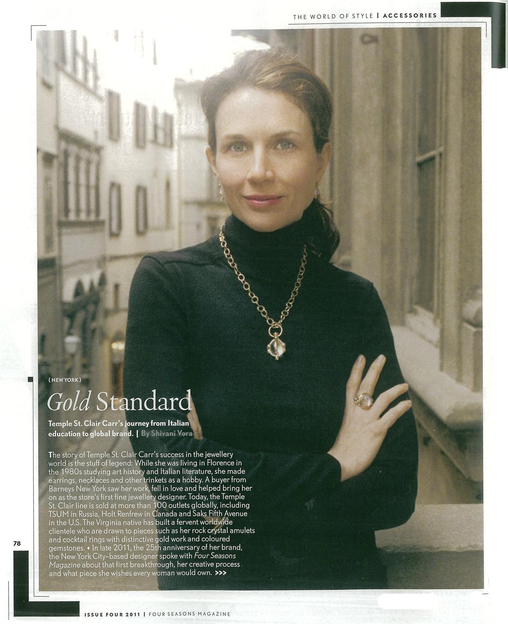 Four Seasons Magazine Explores Designer Temple St. Clair\'s History ...