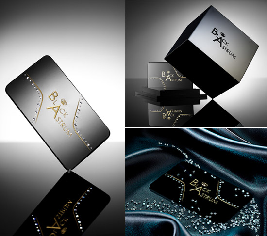 Diamonds are truly forever with diamond studded business cards image reheart Images