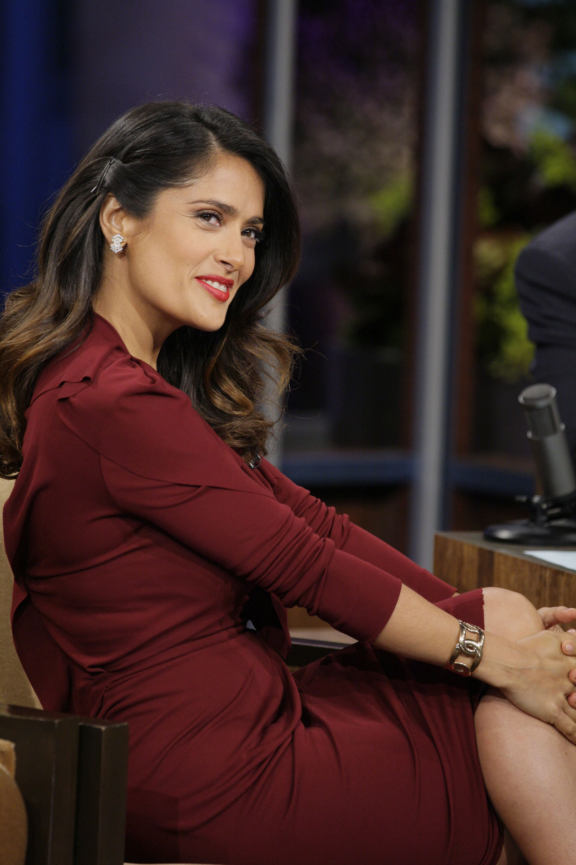 Spotted! Salma Hayek in Pomellato on the Tonight Show ...
