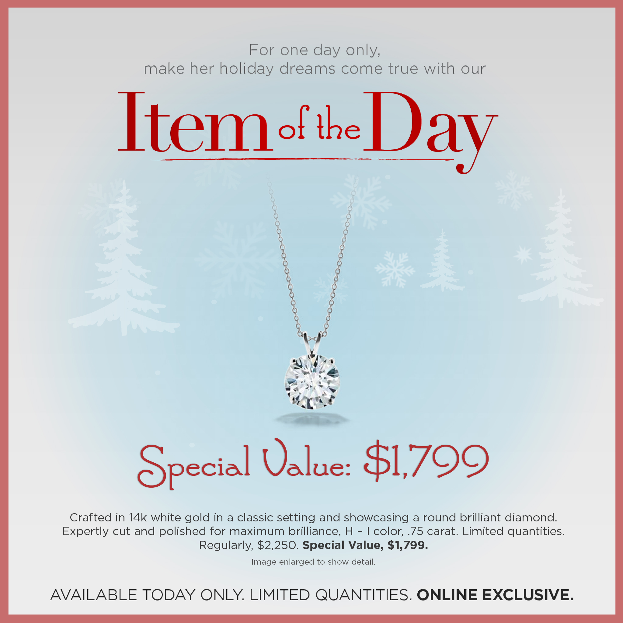 Diamond Pendant Item of the Day