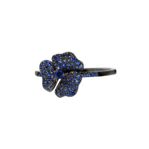 AS29 Sapphire flower ring