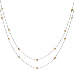 Citrine Drop Necklace