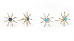 Diamond Gemstone Studs