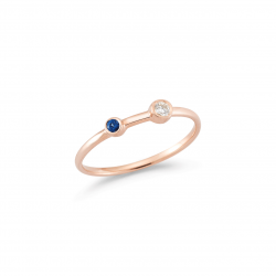 Rose Gold Sapphire Stacking Ring