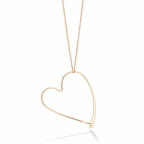 14K Gold Open Heart Pendant