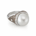 18K Gold And South Sea Pearl Rin