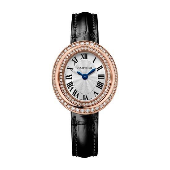 Cartier Hypnose WatchSmall Model, 18K Pink Gold, Leather, Diamonds