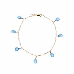 Calypso Gold Blue Topaz Drop Bracelet