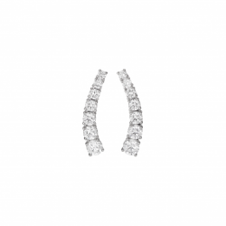 Classic Gold Diamond Curved Earrings