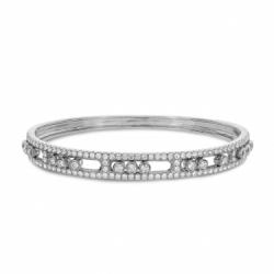 Gold Diamond Bangle Bracelet
