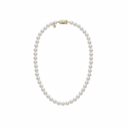Mikimoto Yellow Gold Pearl Necklace