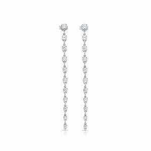 14K WHITE GOLD AND 1.81TW DIAMOND LONG EARRINGS