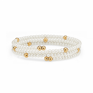 14K GOLD AND PEARL WRAP BRACELET