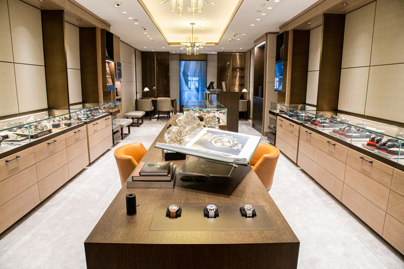 A full view picture of the length of the new Watch Salon.