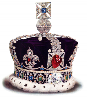 England's Imperial State Crown with the Black Prince's Ruby.