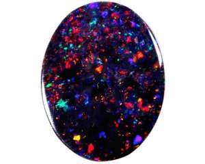 A black opal with pin fire pattern.