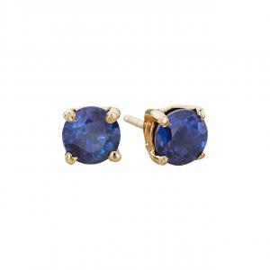 14k 5mm Sapphire Birthstone September Stud Earrings