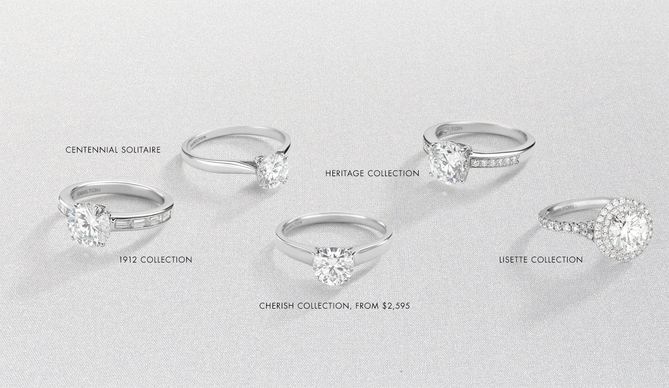 Hamilton collections shop engagement rings