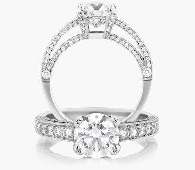 Harmony engagement ring collection