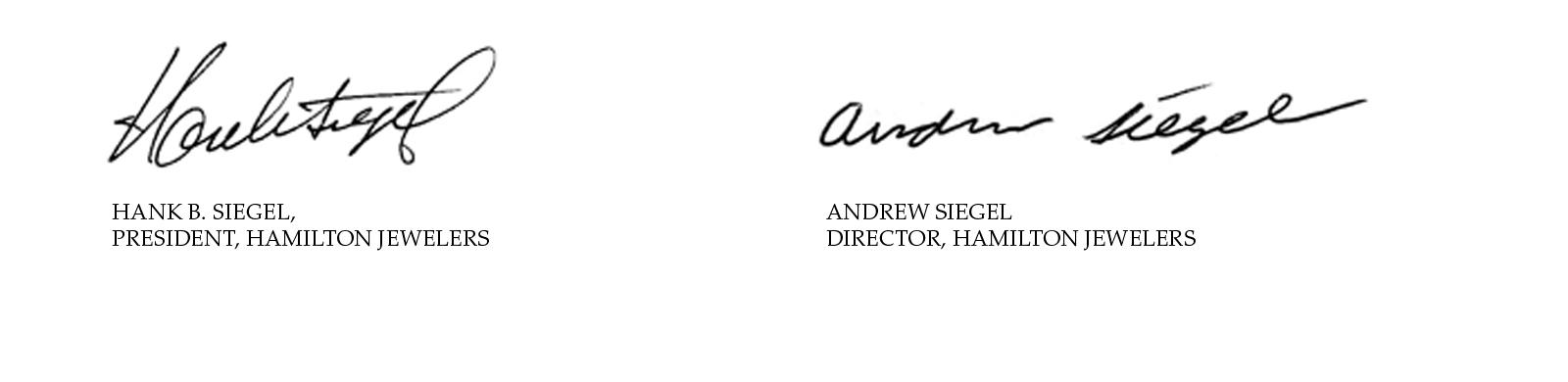 Hank and Andrew Siegel