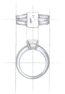 Custom Jewelry Design Sketch