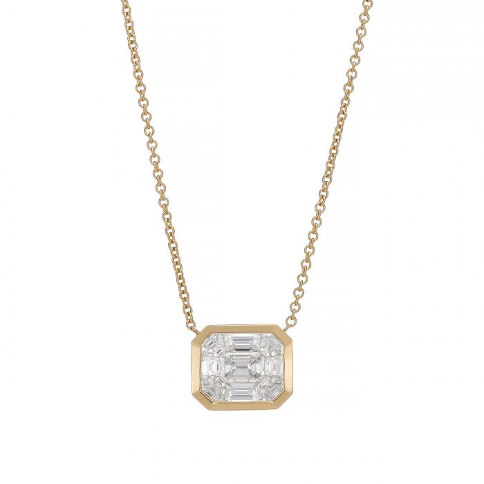 18k Yellow Gold 8 Ct Look Diamond Pendant Hamilton Jewelers