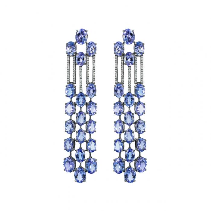 Etho Maria 18k Gold and Tanzanite Drop Earrings