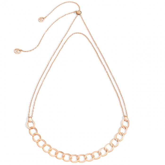 Pomellato 18k Rose Gold Brera Chain Choker Necklace