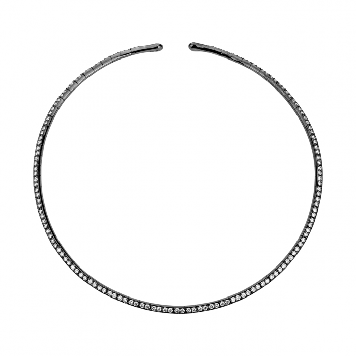 Etho Maria 18k Blacked Gold and Diamond Choker Necklace