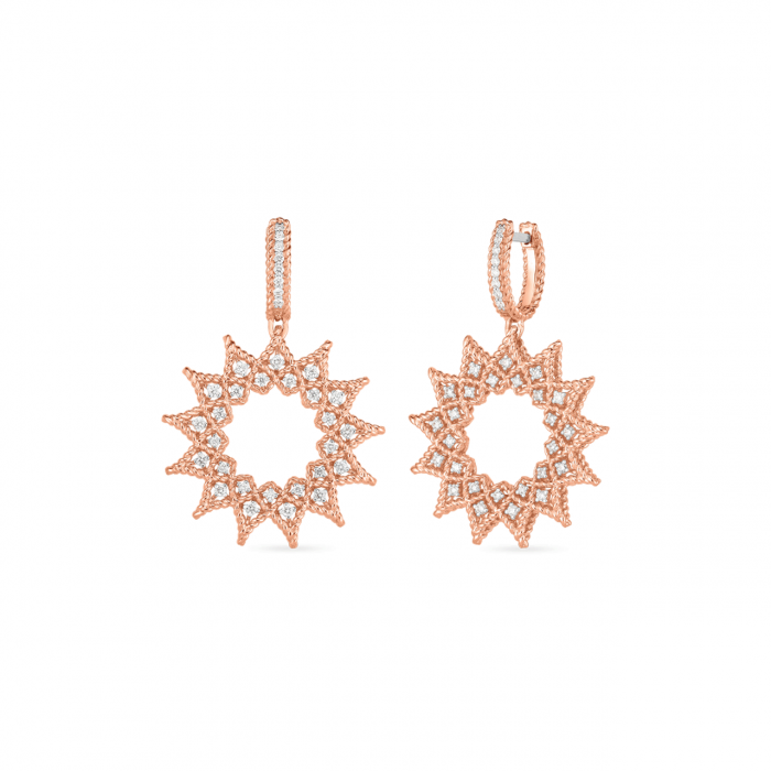 Roberto Coin Roman Barocco Sunburst Diamond Earrings