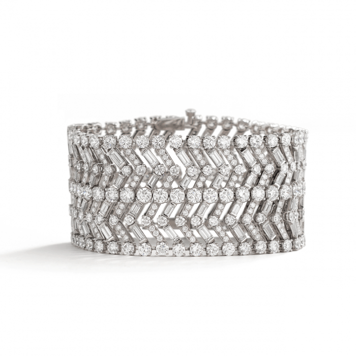 Etho Maria 18k Gold and Rose Cut Diamond Wide Bracelet
