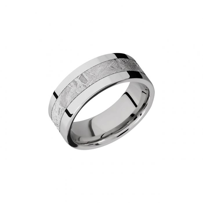 Cobalt Chrome and Meteorite 7.5mm Wedding Band