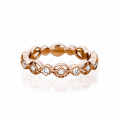 Heritage 18k Rose Gold and .30 CT Band