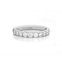 Lisette 18k White Gold 1.00 Diamond Band