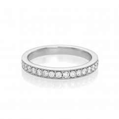 Hamilton Cherish 18k Gold Micro Prong Set Diamond Wedding Band