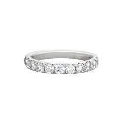 Lisette 18k White Gold .50 Diamond Band