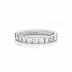 Lisette 18k White Gold .75 Diamond Band