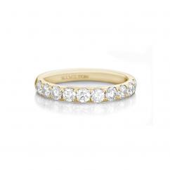 Lisette 18k Yellow Gold .50 Diamond Band 3/4 Way Around