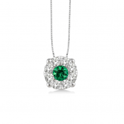 Classic 14k Gold and Emerald Pendant