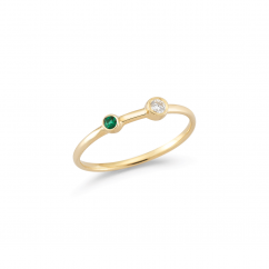 Barbela Design 14k Yellow Gold and Emerald Ring