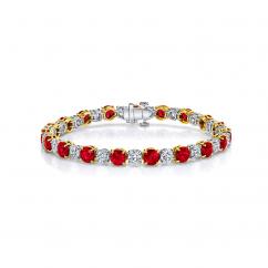 Private Reserve Platinum Ruby and Diamond Bracelet