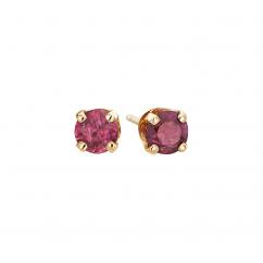 14k 3mm Ruby Birthstone July Stud Earrings