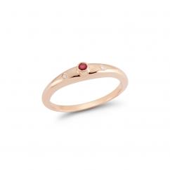 Barbela Design 14k Gold Ruby and Diamond Ring